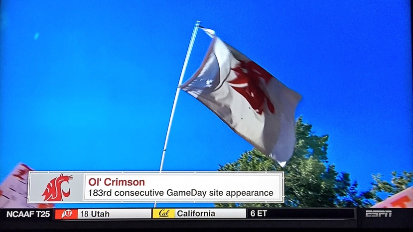 The Ol' Crimson has been a staple on College GameDay for years! Image via Michael Ehrlich