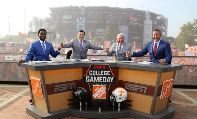 ESPN College GameDay Built by The Home Depot has become the ultimate party to crash. Photo via ESPN MediaZone