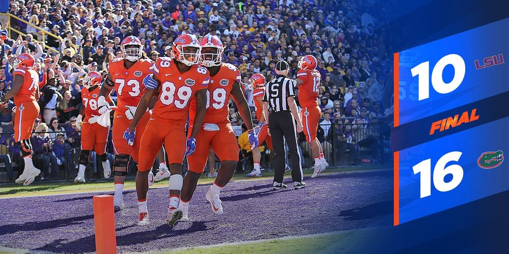 The Swamp is alive and well as the Gators claimed the SEC East title with a win over LSU. Lead Image Credit: @GatorsFB