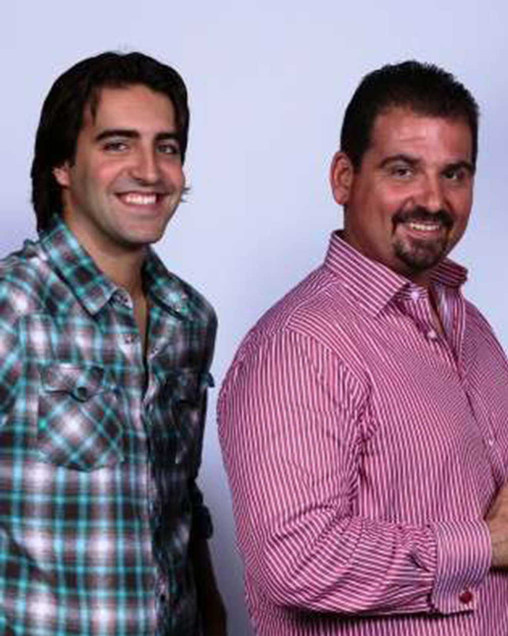 Ryan (left) with journalist and ESPN Radio personality Dan Le Batard. (Image via Sports Talk 790 AM The Ticket)