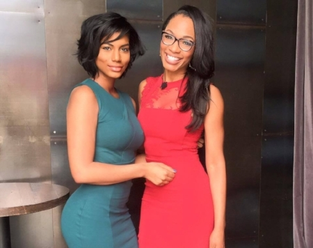 Taylor Rooks (Left) seen here with Cari Champion Photo via Taylor Rooks