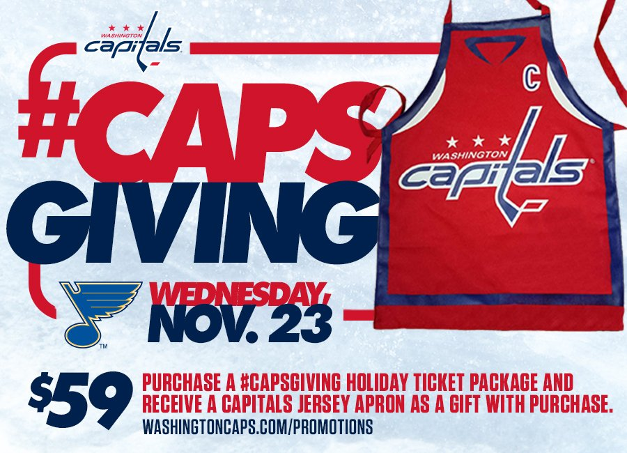 The Washington Capitals #Capsgiving featured a variety of Thanksgiving-themed activities. Photo source:https://twitter.com/Capitals/status/799306512170622981