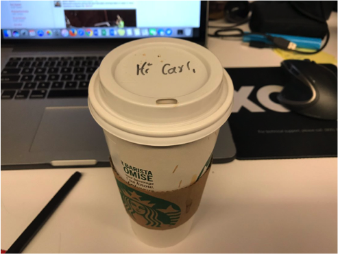 Coffee is a key ingredient to the life of any #sportsbiz professional, just ask Carl! Image via Carl Schmid