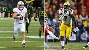 Christian McCaffrey (Left) and Leonard Fournette (Right) decided to skip their respective bowl games. How do their decisions impact the rest of us?(Image via Sporting News).