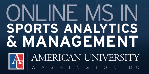 The Online Sports Management and Analytics Graduate Program at American Universityis the first of its kind and is built to provide a unique education in analytics, new technologies and social media. Image via Matt Winkler