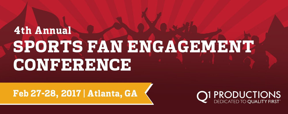 The 4th Annual Sports Fan Engagement Conference is shaping up to be one of the best of the year. Image via Q1