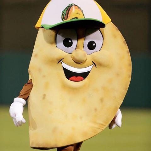 Cilantro Gomez, the official mascot of the Fresno Tacos. Photo via Instagram