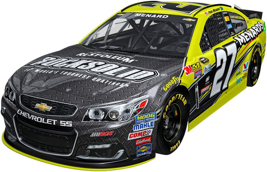 Menard's Rust-oleum sponsored car. Image via jayski.com