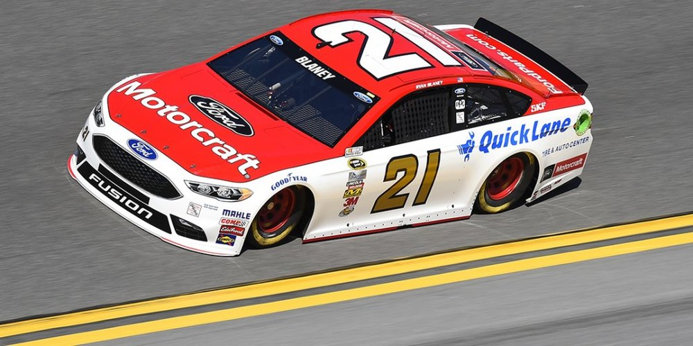 Blaney's Motorcraft Ford in 2016. Photo via ryanblaney.com