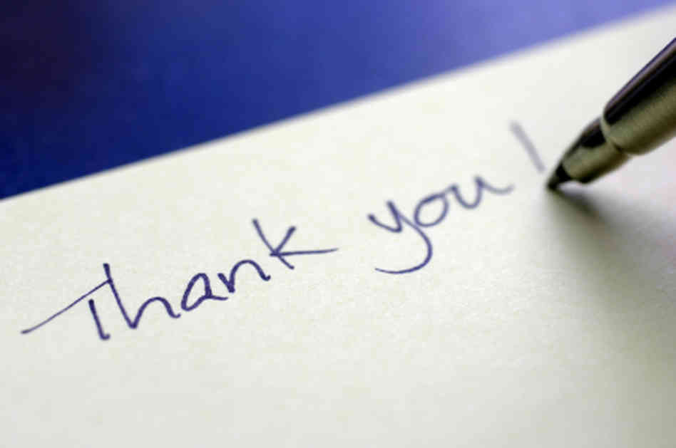 One of the most important pieces to networking, and the job process, is the thank you note. Photo via media.npr.org