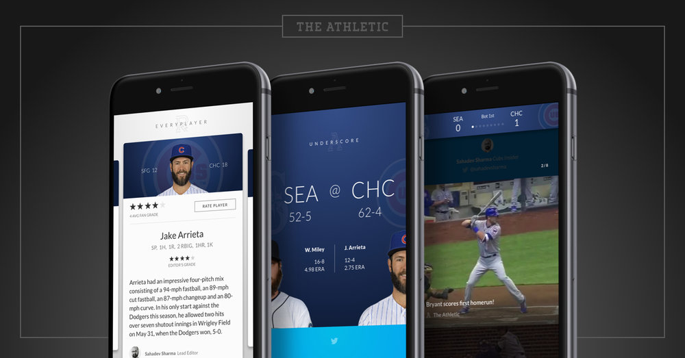 The Athletic's App is functional, simple and appealing to the consumer. Image via Adam Hansmann