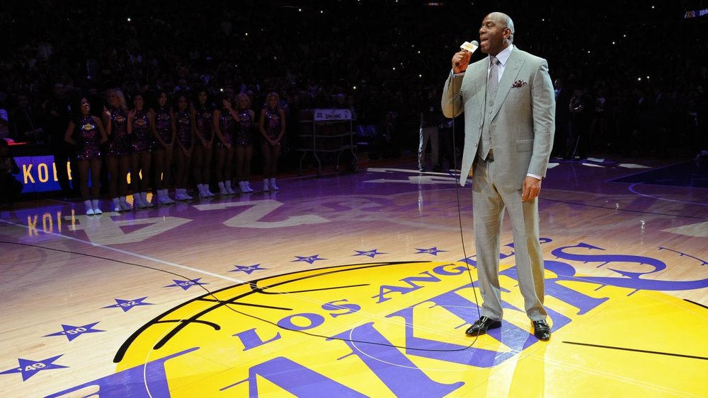 Magic Johnson will try to dig the Lakers out of mediocrity. Photo via NBA.com