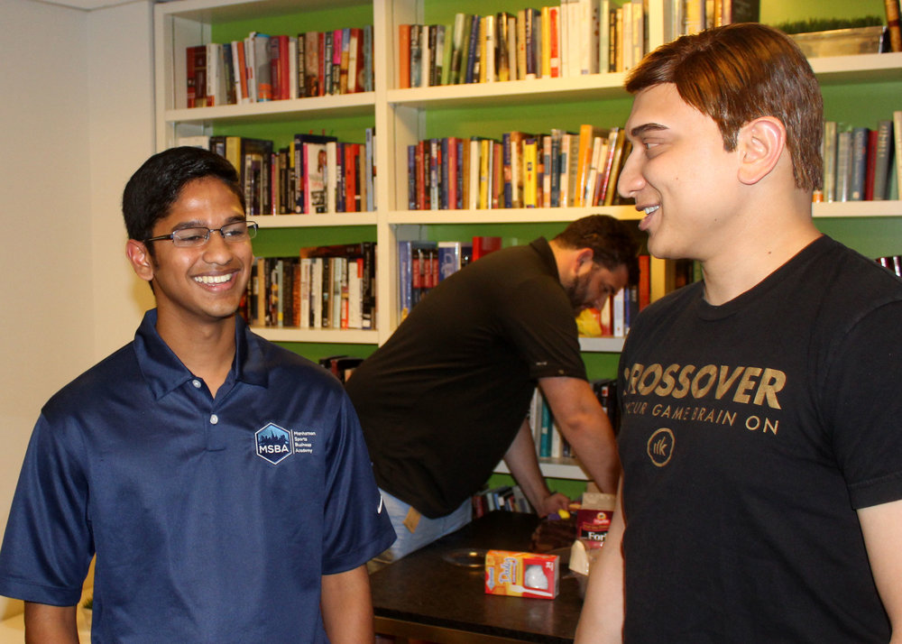 Sanjit (left) with Vasu Kulkarni (right), CEO of Krossover. Photo via Bailey Weigel