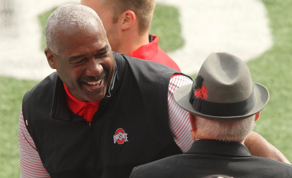 More often than not, Gene Smith can be seen with a smile on his face. (David Jablonski/Dayton Daily News)