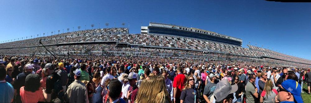 2017 Daytona 500's pre-race from infield.Photo via Christian Espinoza