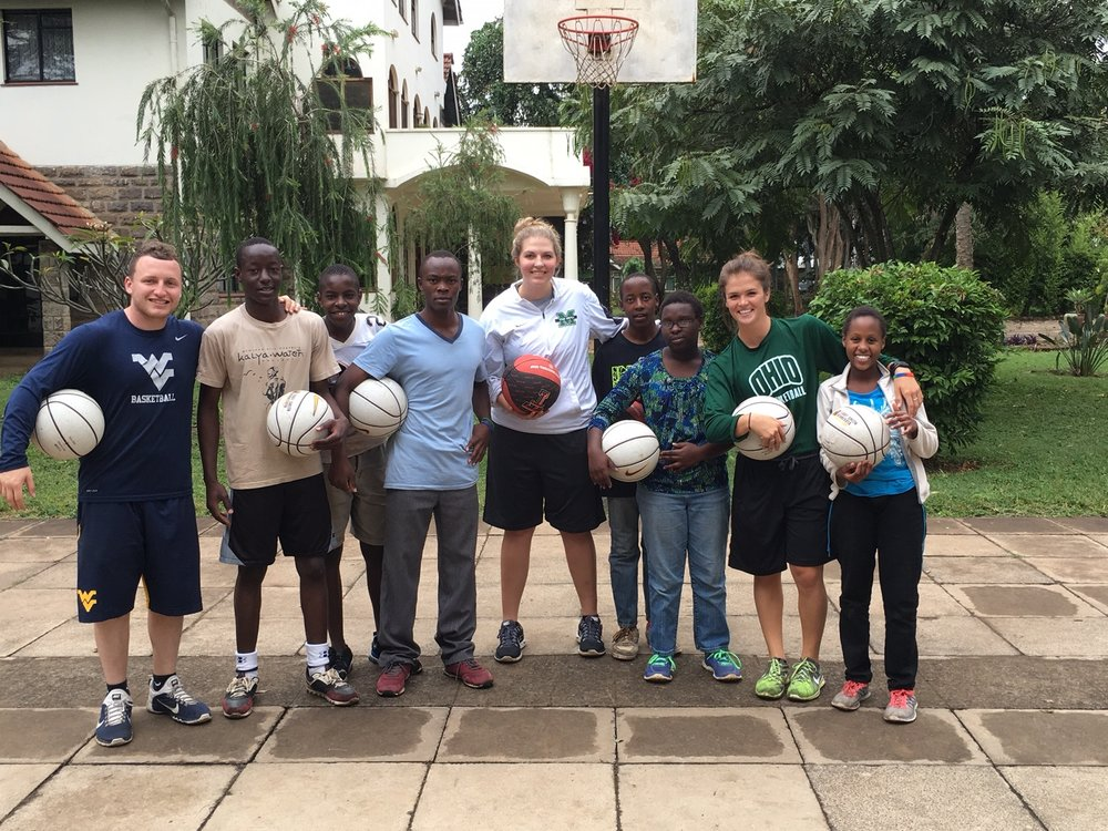 MOAM donated basketballs to kids in the Kenya orphanage in 2016. Photo via Drew Boe