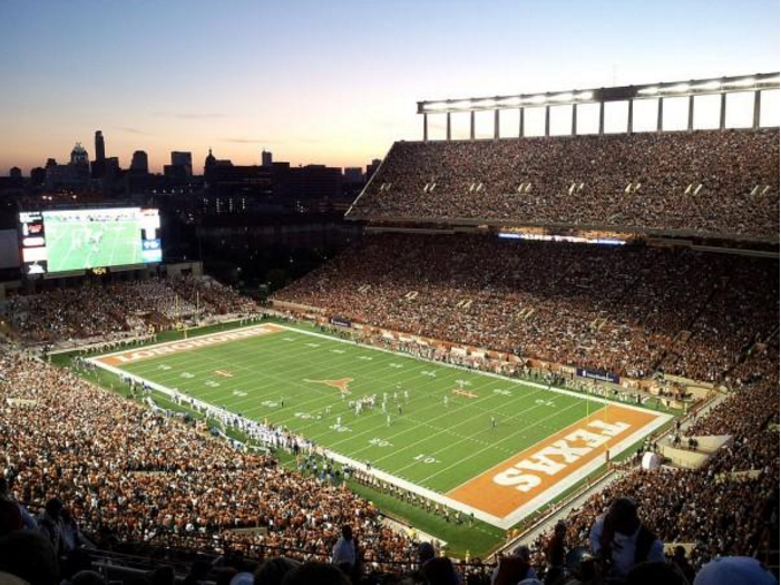 Texas Football has been a traditional powerhouse when it comes to revenue. Photo via patchcdn.com