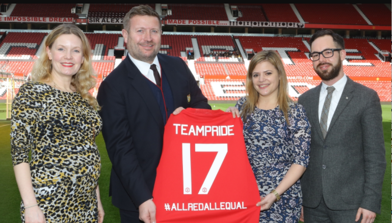 Manchester United joins forces with LGBT charity Stonewall Photo via Manchester United