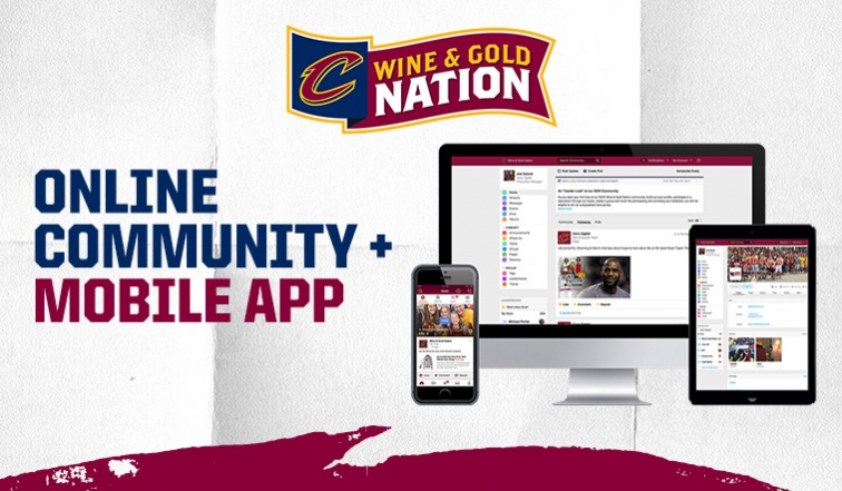 The Cavaliers are putting their own stamp on social networks.Photo via cavs.com