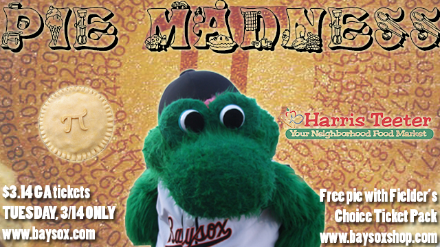 One of the graphics the Bowie Baysox made for Pie Madness. Photo via milb.com.