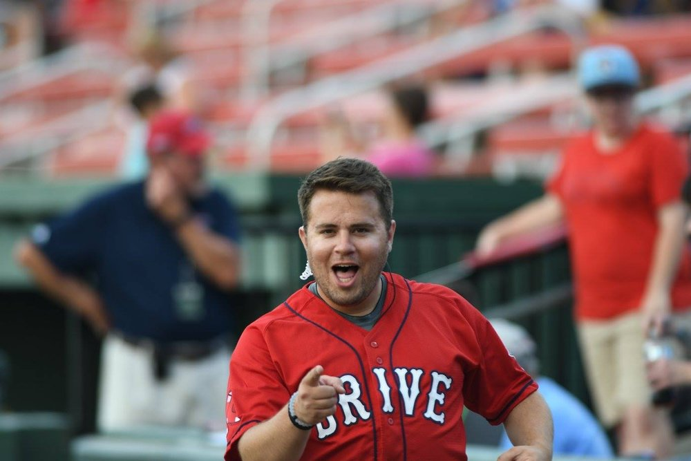 Zach spends countless hours working for the Greenville Drive, a minor league affiliate of the Boston Red Sox.Photo via Zach Sprunger