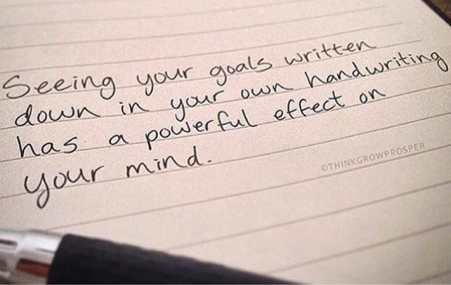 Having your goals written down can increase your chance of completing them. Photo via Rich20Something