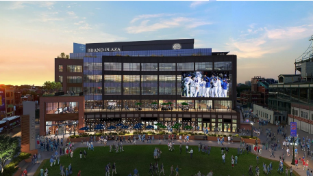 The new Cubs village has been a hit! Photo via Chicago Business