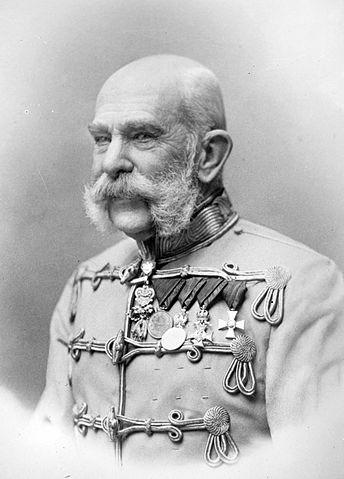 Franz Ferdinand's uncle Franz Joseph, Austrian-Hungarian Emperor. Wikimedia Commons.