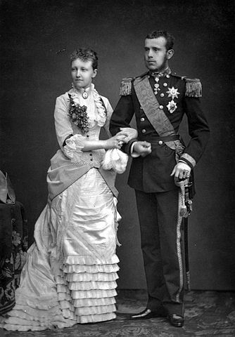 Crown Prince Rudolph and his wife. Wikimedia Commons.