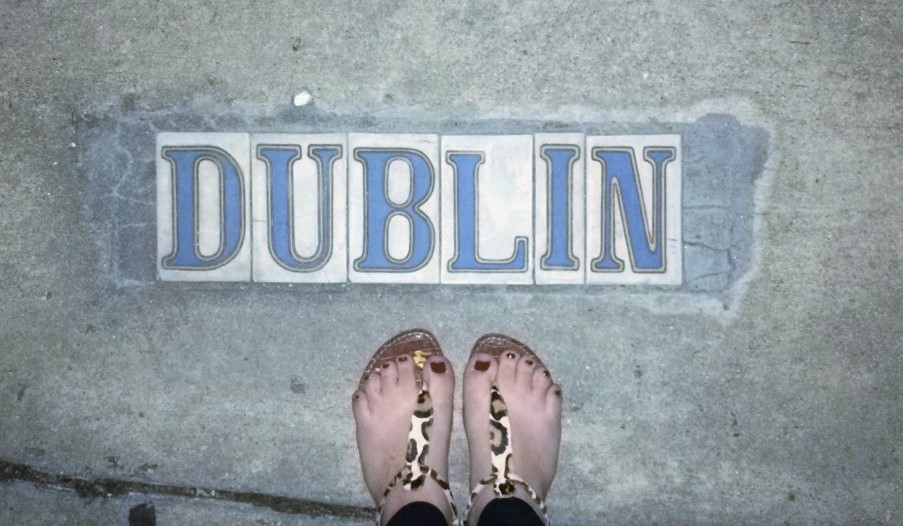 My feet on Dublin Street waiting for Rebirth Brass Band to start.