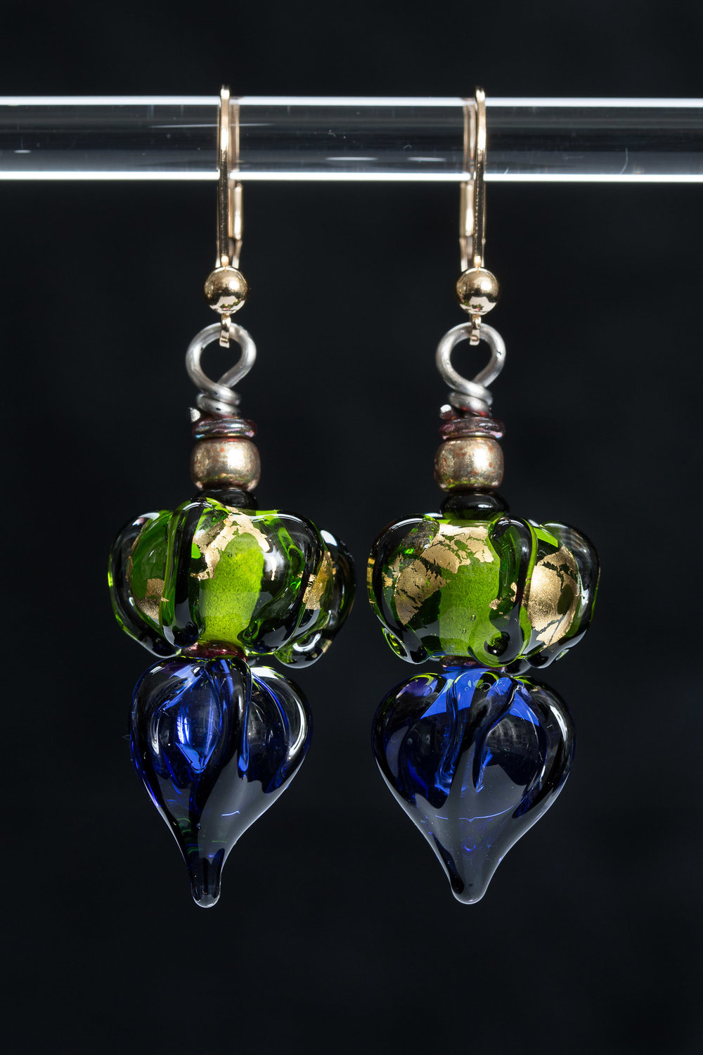 Blue/Green Lantern Earrings