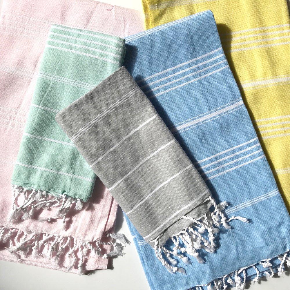 rainbow row turkish towels - Turkish Towels
