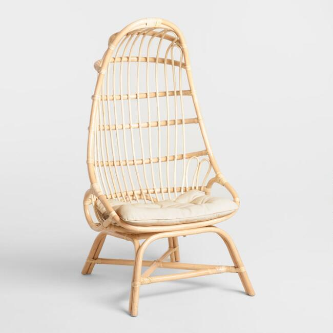 World Market  Natural Rattan Fallon Cocoon Chair