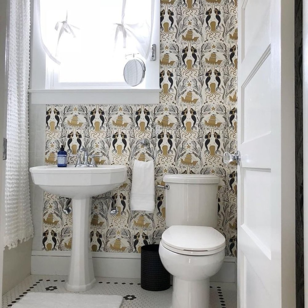 Hygge & West Wallpaper for Bathrooms