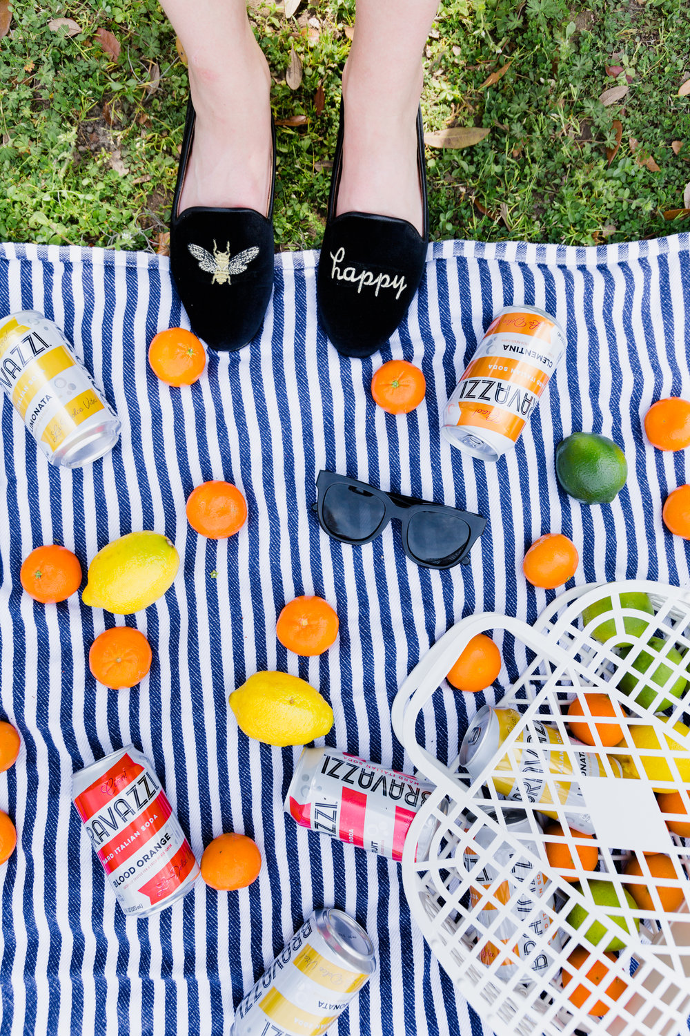 colorful picnic with turkish towel