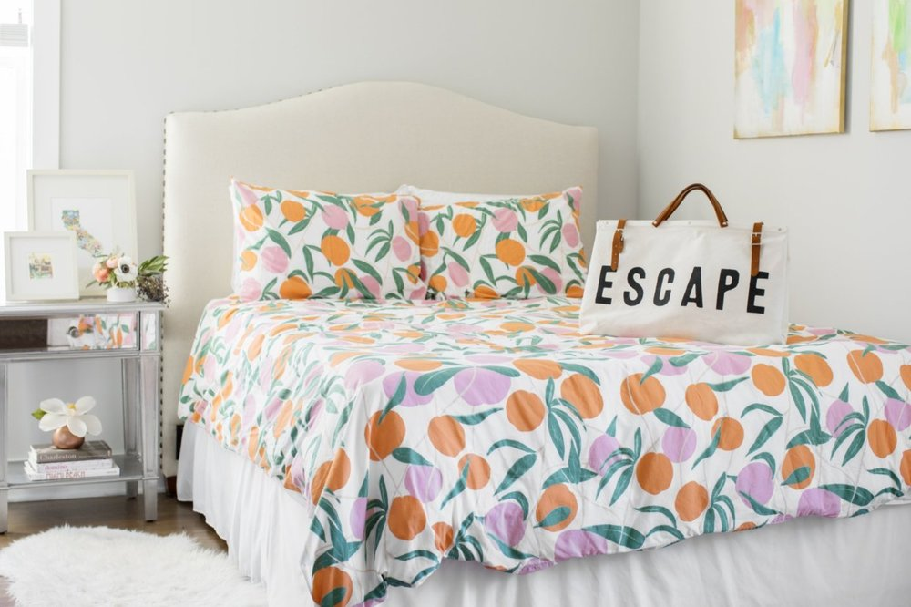 colorful comforter florida decor