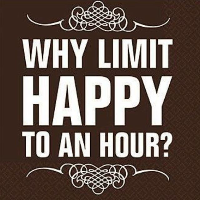 Stay happy! Happy hour starts at 4. Late night happy hour starts at 10. #StayHappy #happyhour #margaritas #wellliquor #beer #cheesyapps
