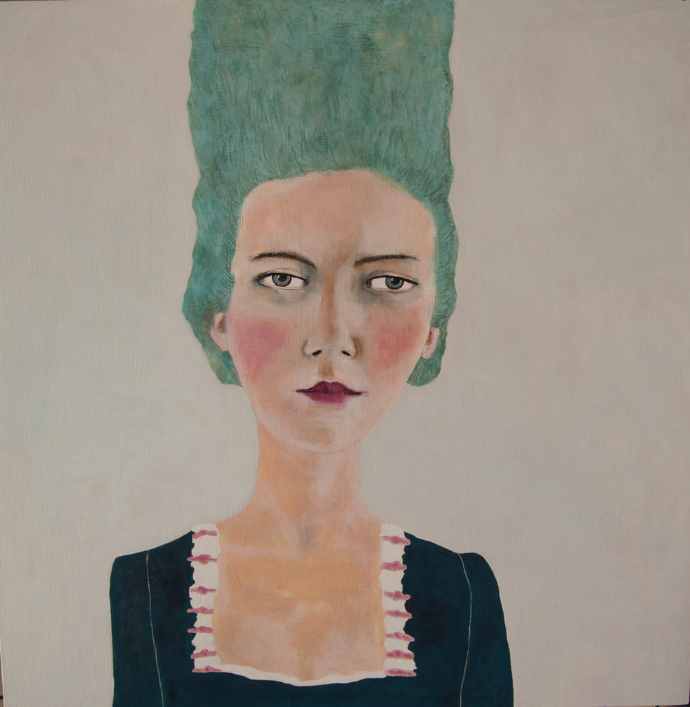 Isabella Di Sclafani. When Marie Antoinette was a Punk Rocker 5. Acrylic on Panel. 2015.