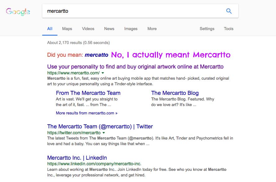 It's Mercartto NOT Mercatto