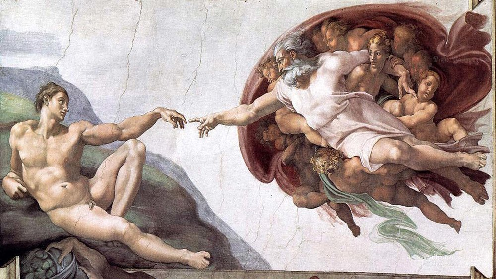 Michelangelo. The Creation of Adam.  1508-1512.