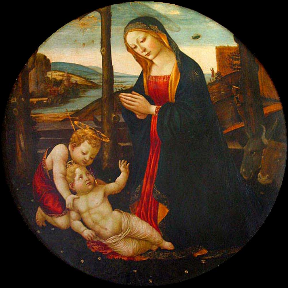 Domenico Ghirlandaio. The Madonna with Saint Giovannino. 1449 – 1494