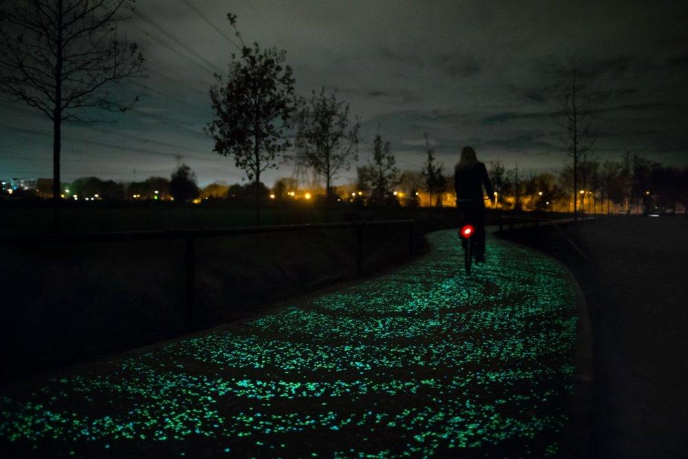 Van Gogh bicycle path  https://www.studioroosegaarde.net/project/smart-highway/photo/#van-gogh-path