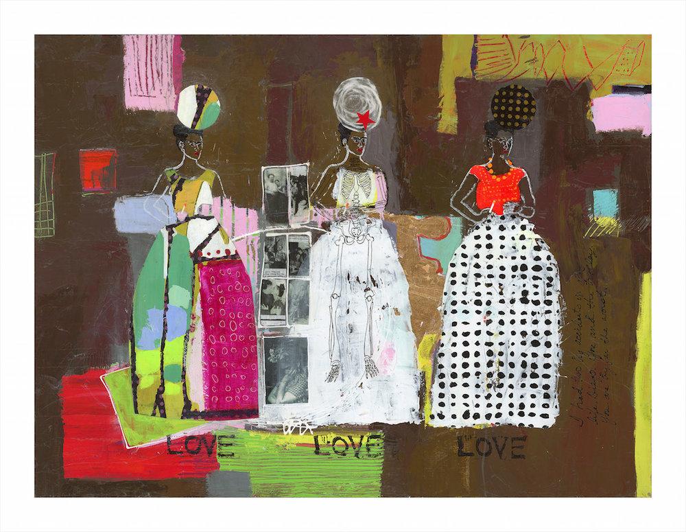 Frida, with Diego, in Love | Jane Murdoch Adams | Mercartto