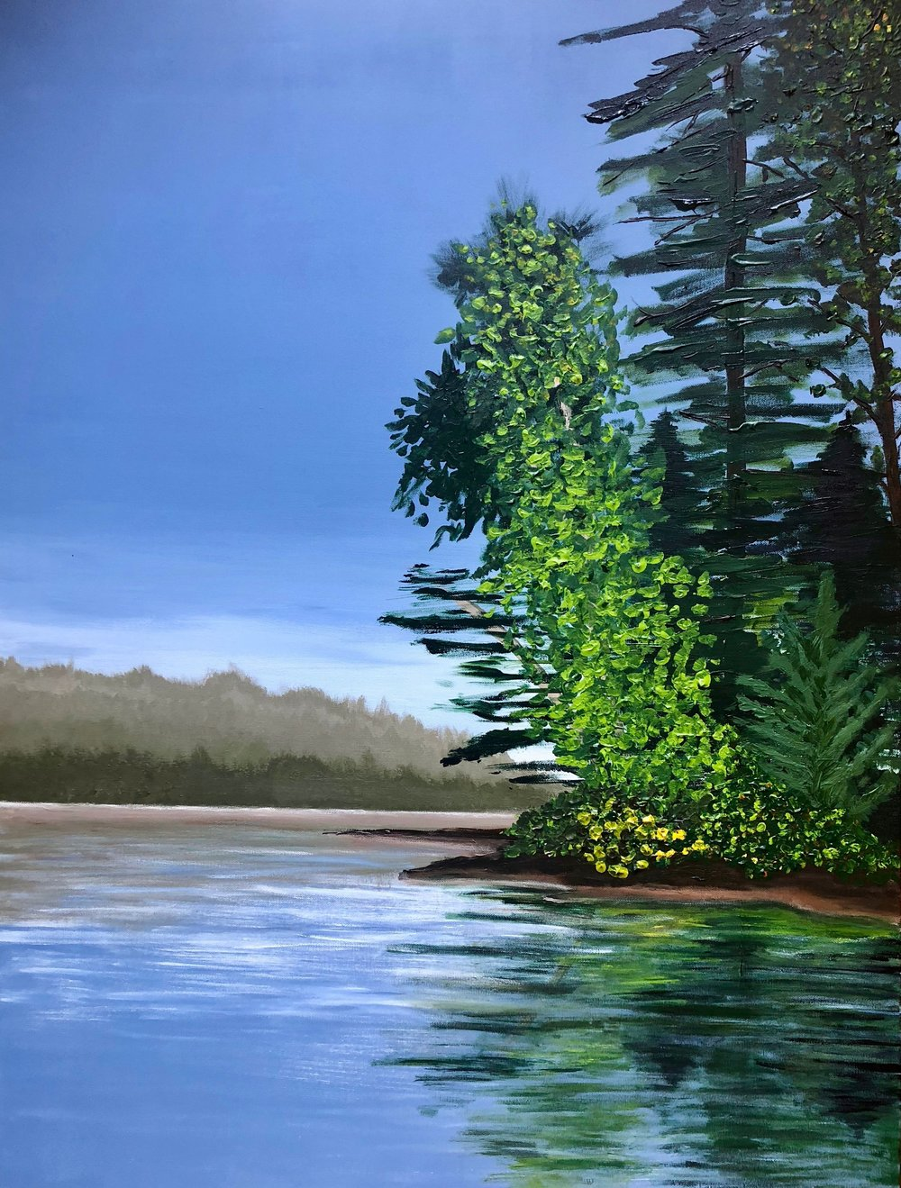 "View from the Canoe , Andrea Wojnicki, 30"" x 40"", $2100 (free shipping, free returns, no additional fees!)"