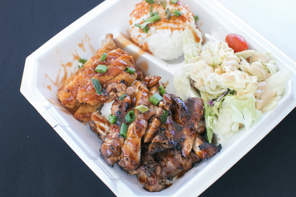 Shreveport-based Ono's Traditional Hawaiian serves up Teriyaki Chicken and Pork Katsu with Garlic Lemon Aioli.  OA