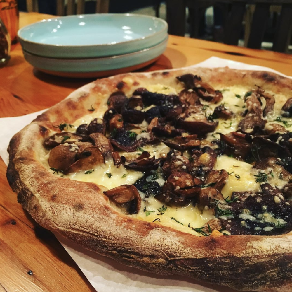 #lentenlovenotes without you is like mushroom pizza without Shitaake, Oyster and Cremini- just plain cheesy! Be sure to check back for the next four installments. Watch out for reminders on  Instagram  and  Facebook .  [Photo via  Echo's Pizza ]