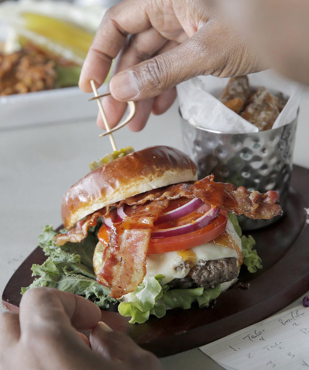 Closeup of Ethel's beloved burger (photo courtesy of Ethel Williams)