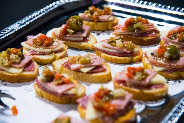 Muffaletta crostini by Elysian Seafood for New Orleans Entrepreneur Week 2018. Photo by  Monwell Frazier