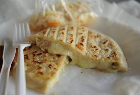 Sarita's Pupuseria pupusa.  Photo courtesy of Thrillist .