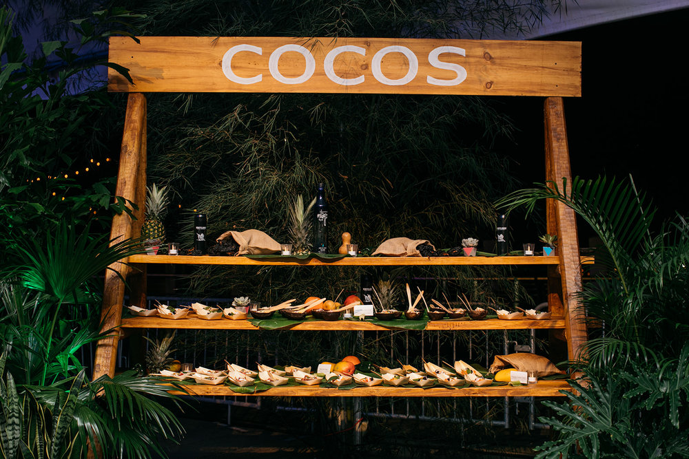 COCOS food station featuring salads by Congreso Cubano.  Photo by Ollie Alexander